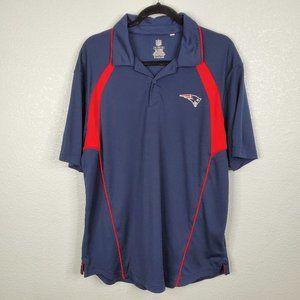 NFL New England Patriots Navy Logo Polo Shirt L